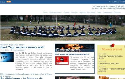 Nueva imagen de la web del G.S. Sant Yago