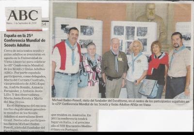 ABC recoge la participación de AISG - España en la 25ª Conf. Mundial